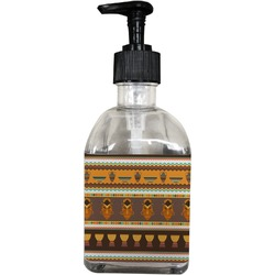 African Masks Soap/Lotion Dispenser (Glass)