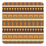 African Masks Square Decal