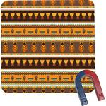 African Masks Square Fridge Magnet