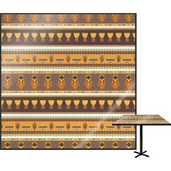 """African Masks Square Table Top - 24"""""""