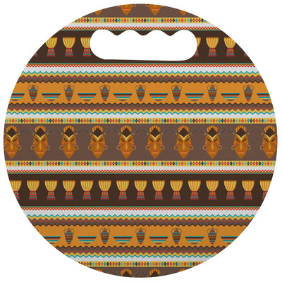 African Masks Stadium Cushion (Round)