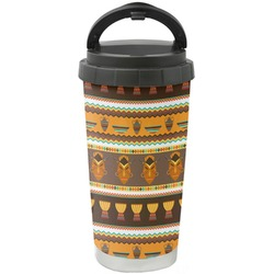 African Masks Stainless Steel Coffee Tumbler