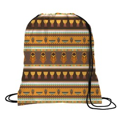 African Masks Drawstring Backpack