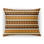 African Masks Rectangular Throw Pillow Case