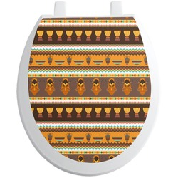 African Masks Toilet Seat Decal - Round