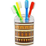 African Masks Toothbrush Holder
