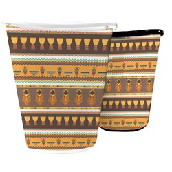 African Masks Waste Basket