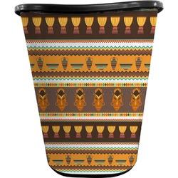 African Masks Waste Basket - Double Sided (Black)