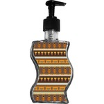 African Masks Wave Bottle Soap / Lotion Dispenser