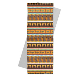 African Masks Yoga Mat Towel