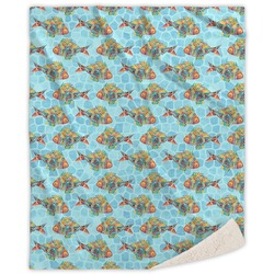 Mosaic Fish Sherpa Throw Blanket (Personalized)