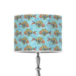 "Mosaic Fish 8"" Drum Lamp Shade - Poly-film"