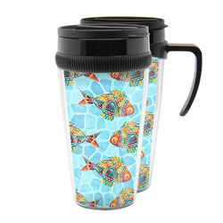 Mosaic Fish Acrylic Travel Mugs