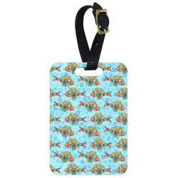 Mosaic Fish Metal Luggage Tag