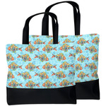 Mosaic Fish Beach Tote Bag