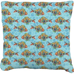 """Mosaic Fish Faux-Linen Throw Pillow 26"""" (Personalized)"""