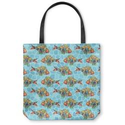 Mosaic Fish Canvas Tote Bag
