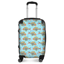 """Mosaic Fish Suitcase - 20"""" Carry On"""