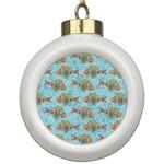 Mosaic Fish Ceramic Ball Ornament