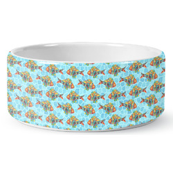 Mosaic Fish Ceramic Pet Bowl (Personalized)