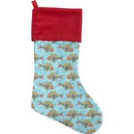 Mosaic Fish Christmas Stocking (Personalized)