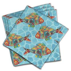 Mosaic Fish Cloth Napkins (Set of 4)