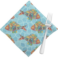 Mosaic Fish Cloth Napkins (Set of 4) (Personalized)