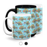 Mosaic Fish Coffee Mugs