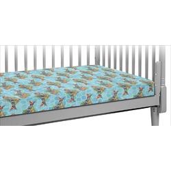 Mosaic Fish Crib Fitted Sheet