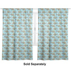 "Mosaic Fish Curtains - 40""x84"" Panels - Unlined (2 Panels Per Set) (Personalized)"