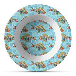 Mosaic Fish Plastic Bowl - Microwave Safe - Composite Polymer
