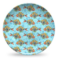 Mosaic Fish Microwave Safe Plastic Plate - Composite Polymer (Personalized)