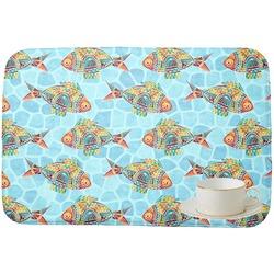 Mosaic Fish Dish Drying Mat (Personalized)