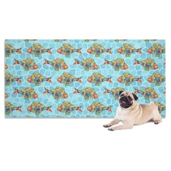 Mosaic Fish Dog Towel (Personalized)