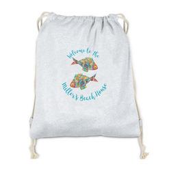 Mosaic Fish Drawstring Backpack - Sweatshirt Fleece