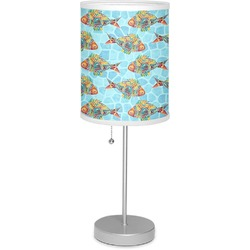 """Mosaic Fish 7"""" Drum Lamp with Shade (Personalized)"""