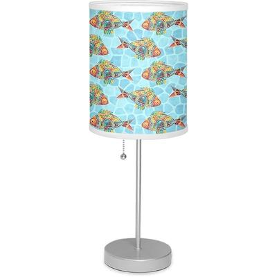"Mosaic Fish 7"" Drum Lamp with Shade"