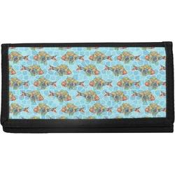Mosaic Fish Canvas Checkbook Cover