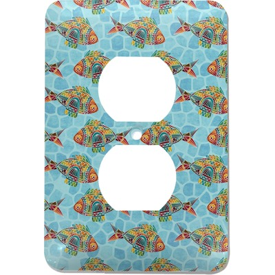 Mosaic Fish Electric Outlet Plate