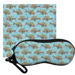 Mosaic Fish Eyeglass Case & Cloth