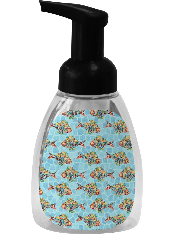 Mosaic fish foam soap dispenser personalized for Fish soap dispenser