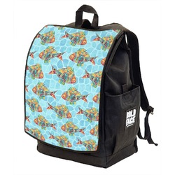 Mosaic Fish Backpack w/ Front Flap