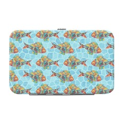 Mosaic Fish Genuine Leather Small Framed Wallet