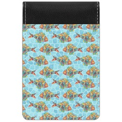 Mosaic Fish Genuine Leather Small Memo Pad (Personalized)