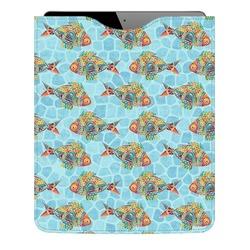 Mosaic Fish Genuine Leather iPad Sleeve (Personalized)