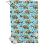 Mosaic Fish Golf Towel - Full Print (Personalized)