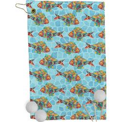 Mosaic Fish Golf Towel - Full Print (Personalized)