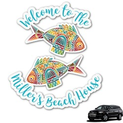 Mosaic Fish Graphic Car Decal (Personalized)
