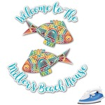 Mosaic Fish Graphic Iron On Transfer