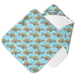 Mosaic Fish Hooded Baby Towel
